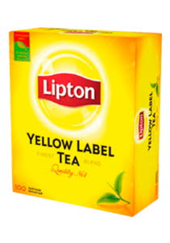 Чай черный Lipton Yellow Label 100пак