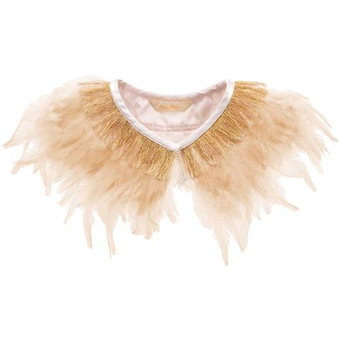 Ожерелье из перьев, персиковое