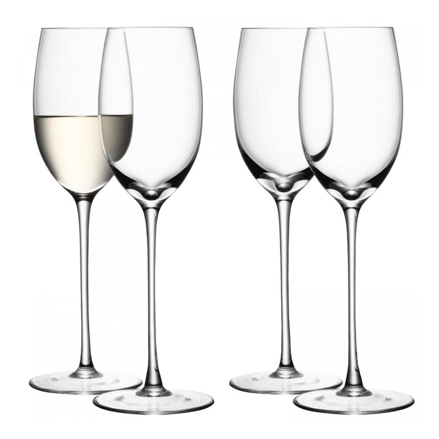 Набор из 4 бокалов для белого вина Wine, 340 мл