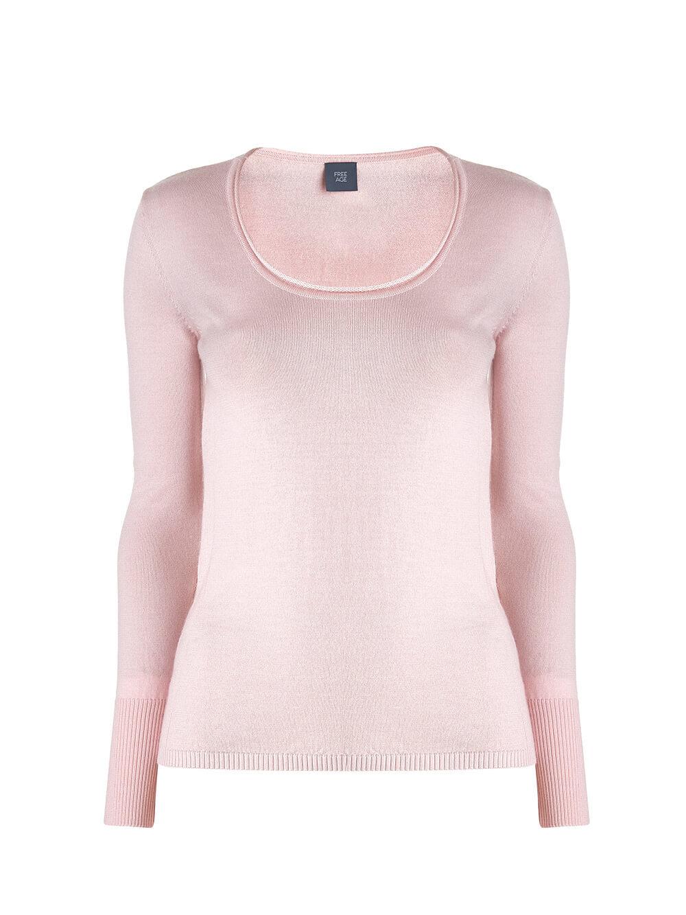 Женский джемпер светло-розового цвета из 100% кашемира - фото 1