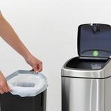 Прямоугольный мусорный бак Touch Bin (25 л), артикул 384929, производитель - Brabantia, фото 8