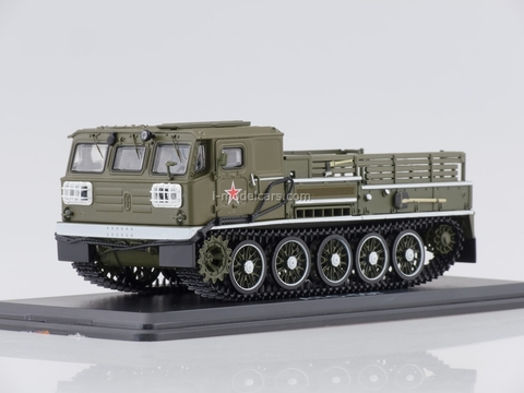 ATS-59G Artillery caterpillar tractor parade khaki 1:43 Start Scale Models (SSM)