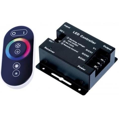 Контроллер RGB 12/24V. 216/432W. 18A с сенсорным пультом