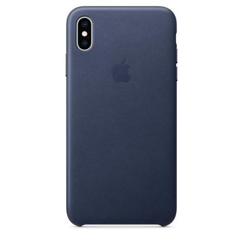 Чехол iPhone XS Max Leather Case /midnight blue/