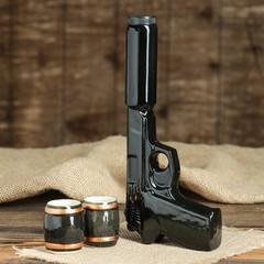 Набор «Пистолет с глушителем» 3 предмета 0,3 л, фото 2