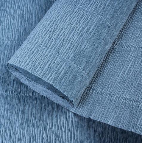 Бумага гофрированная, цвет 606 серо-голубой, 180г, 50х250 см, Cartotecnica Rossi (Италия)
