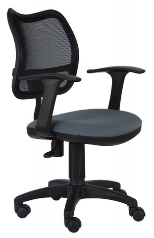спинка сетка черный сиденье серый 26-25