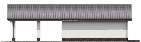 Проект гаража на 4 машины с навесом