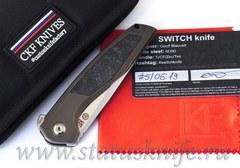 Нож CKF/TUFFKNIVES Switch (M390, титан+карбон+подшипники)