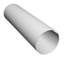 Труба водосточная белая пластик (4м)