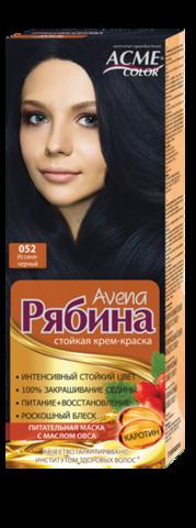 Рябина Avena Крем-краска для волос тон №052 иссиня-черный