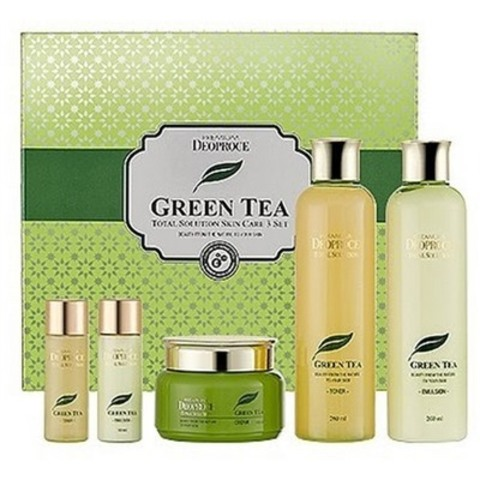 DEOPROCE GREEN TEA Набор для лица уходовый PREMIUM DEOPROCE GREENTEA TOTAL SOLUTION 3 SET 260мл*2/ 100мл / 30мл*2
