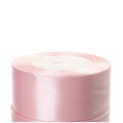 Лента атласная (размер:40мм х 25 ярдов) Цвет:светло-розовый