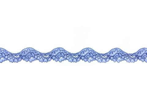Кружево эластичное голубое/василёк 2,5 см