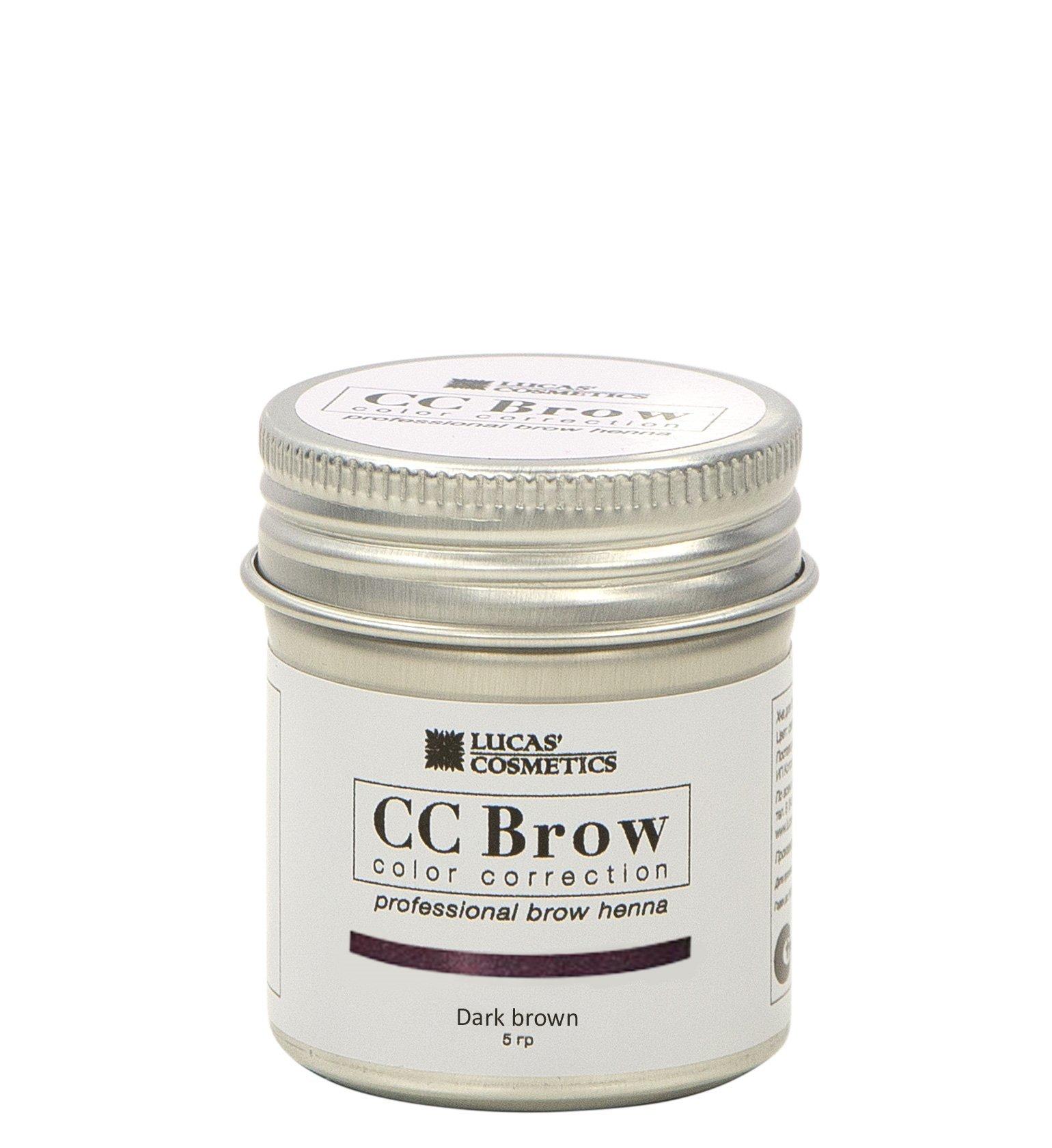 Хна для бровей CC Brow 5гр в баночке Dark Brown Темно-коричневый