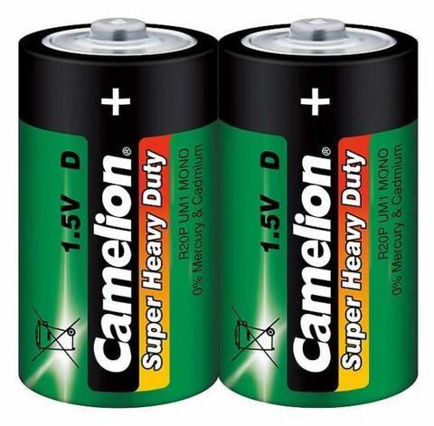 Батарейки Camelion Green R20, D (2/12/288)