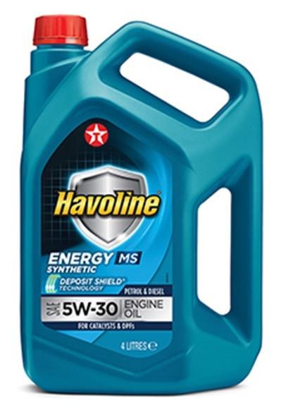 HAVOLINE ENERGY MS 5W-30 моторное масло TEXACO 4 литра