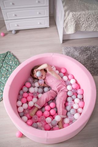 Сухой бассейн Anlipool  100/40см Розовый  комплект Marshmallow
