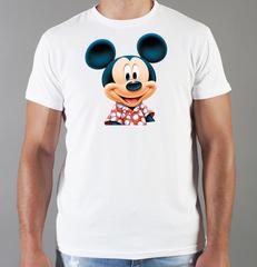 Футболка с принтом Микки Маус (Mickey Mouse) белая 0024