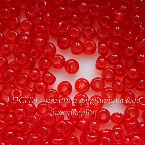 90070 Бисер 6/0 Preciosa прозрачный красный
