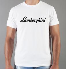 Футболка с принтом Ламборджини, Ламборгини (Lamborghini) белая 005