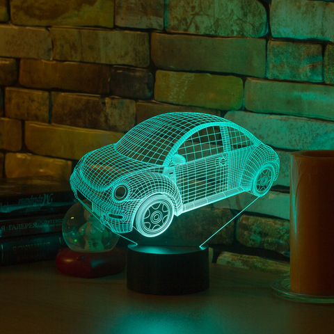 3D ночник Volkswagen Beetle 2010