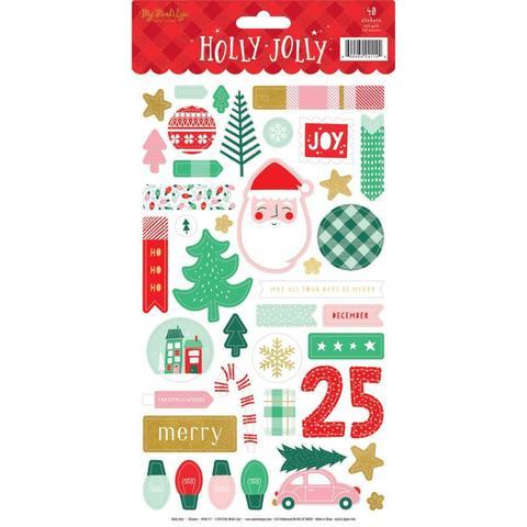 Стикеры 15х30см Holly Jolly Stickers