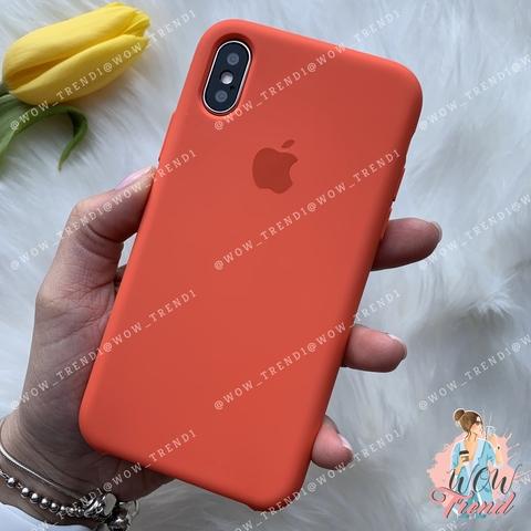 Чехол iPhone XS Max Silicone Case /spicy orange/ апельсин 1:1