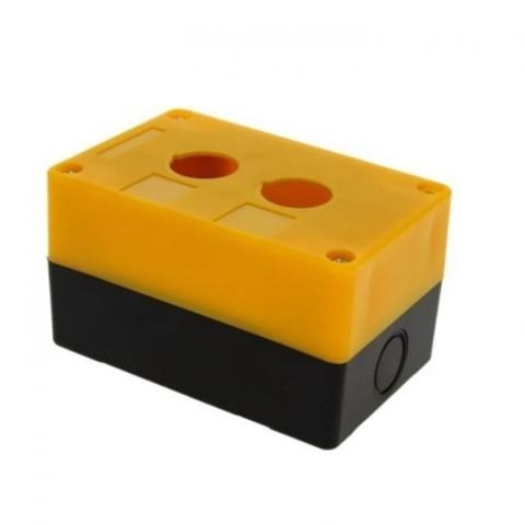 Корпус КП102 для кнопок 2места желтый TDM