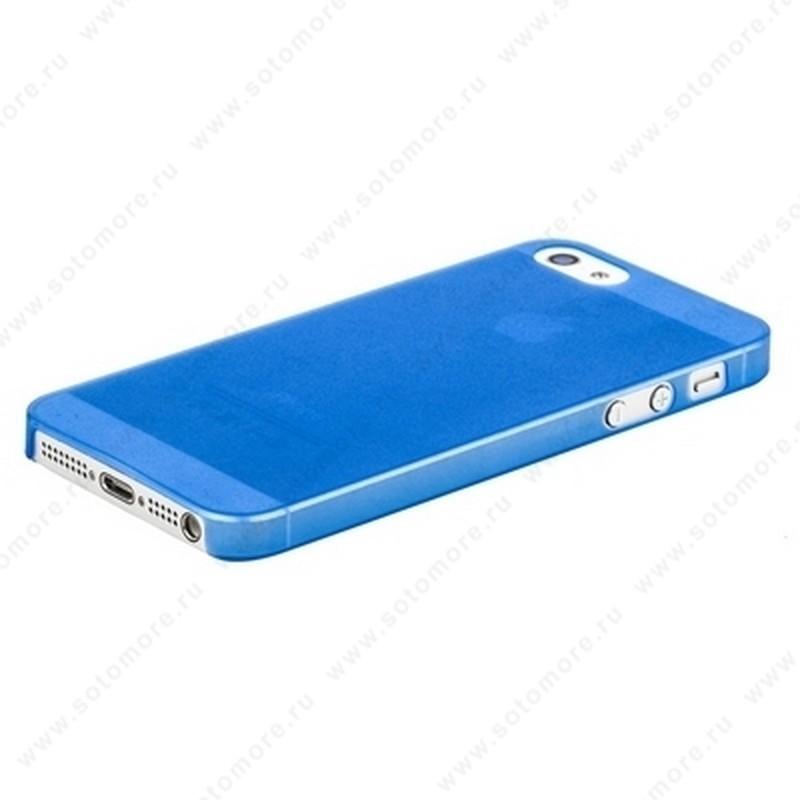 Накладка Sotomore супертонкая для iPhone SE/ 5s/ 5C/ 5 голубая