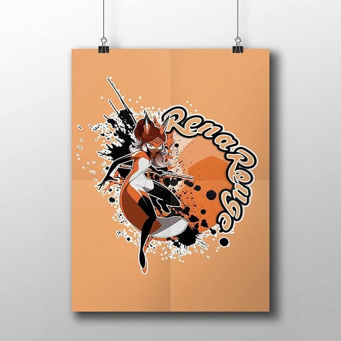 Плакат с Реной Руж - купить в интернет-магазине kinoshop24.ru с быстрой доставкой