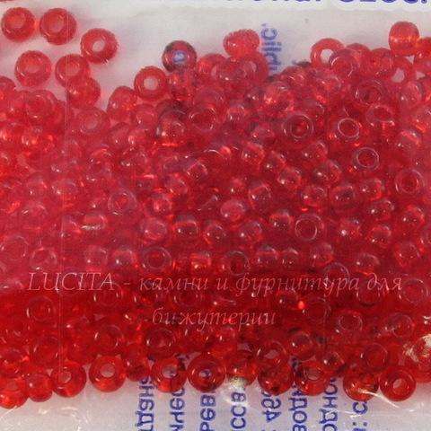 90070 Бисер 6/0 Preciosa прозрачный красный (90070)