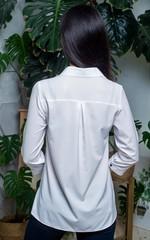 Дива. Молодежная  рубашка с большими карманами. Белый