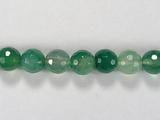 Бусина из агата зеленого (термо обработанного), фигурная, 8 мм (шар, граненая)