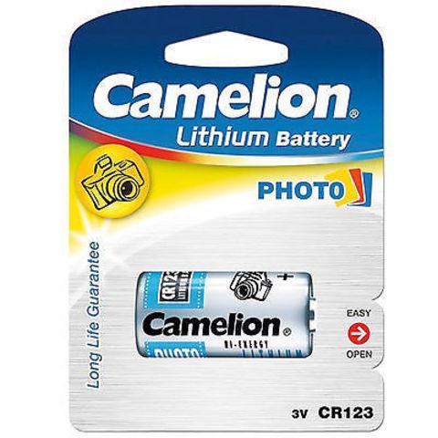 Батарейки Camelion Lithium CR123A, 3V (1/20)