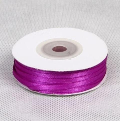 Лента атласная (размер: 3 мм х 50 м) Цвет: фиолетовая