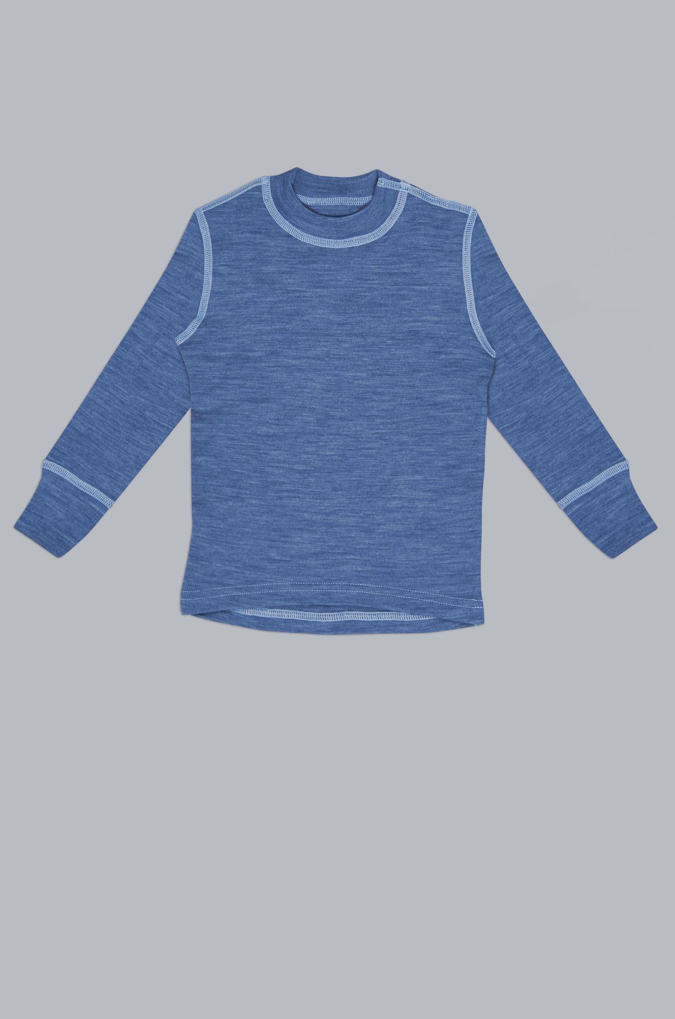 Футболка с длин.рукавом, синий деним 128/134 Choupette