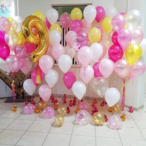 Фотозона розово-желтая