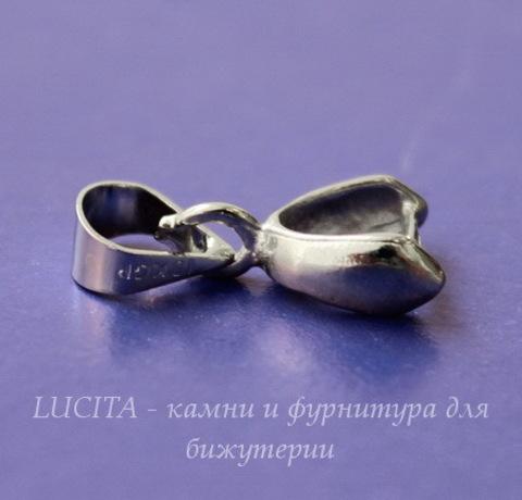 Держатель кулона - петелька (цвет - никель) 15х5 мм