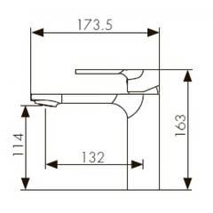 Смеситель KAISER Linear 59011 для раковины схема