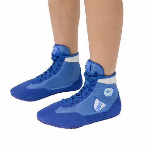 Обувь для борьбы синяя Green Hill