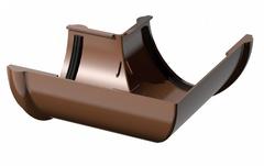 Угол желоба коричневый 90° пластик