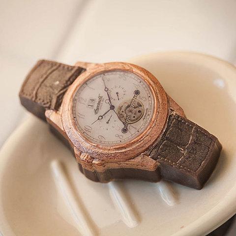 Мыло Часы наручные/Кожаный браслет. Форма пластиковая