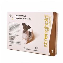 Stronghold 60мг инсектоакарицидные капли для собак 5-10кг 0,5мл*3 пипетки (коричневый)