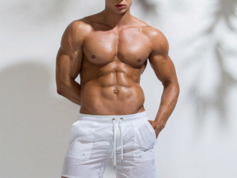 Мужские шорты белые UXH B9208