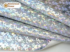 Кожа голограмма битое стекло серебро