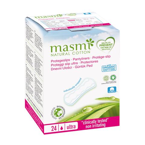 Ежедневные ультратонкие гигиенические прокладки из органического хлопка в индивидуальной упаковке (MASMI NATURAL COTTON)