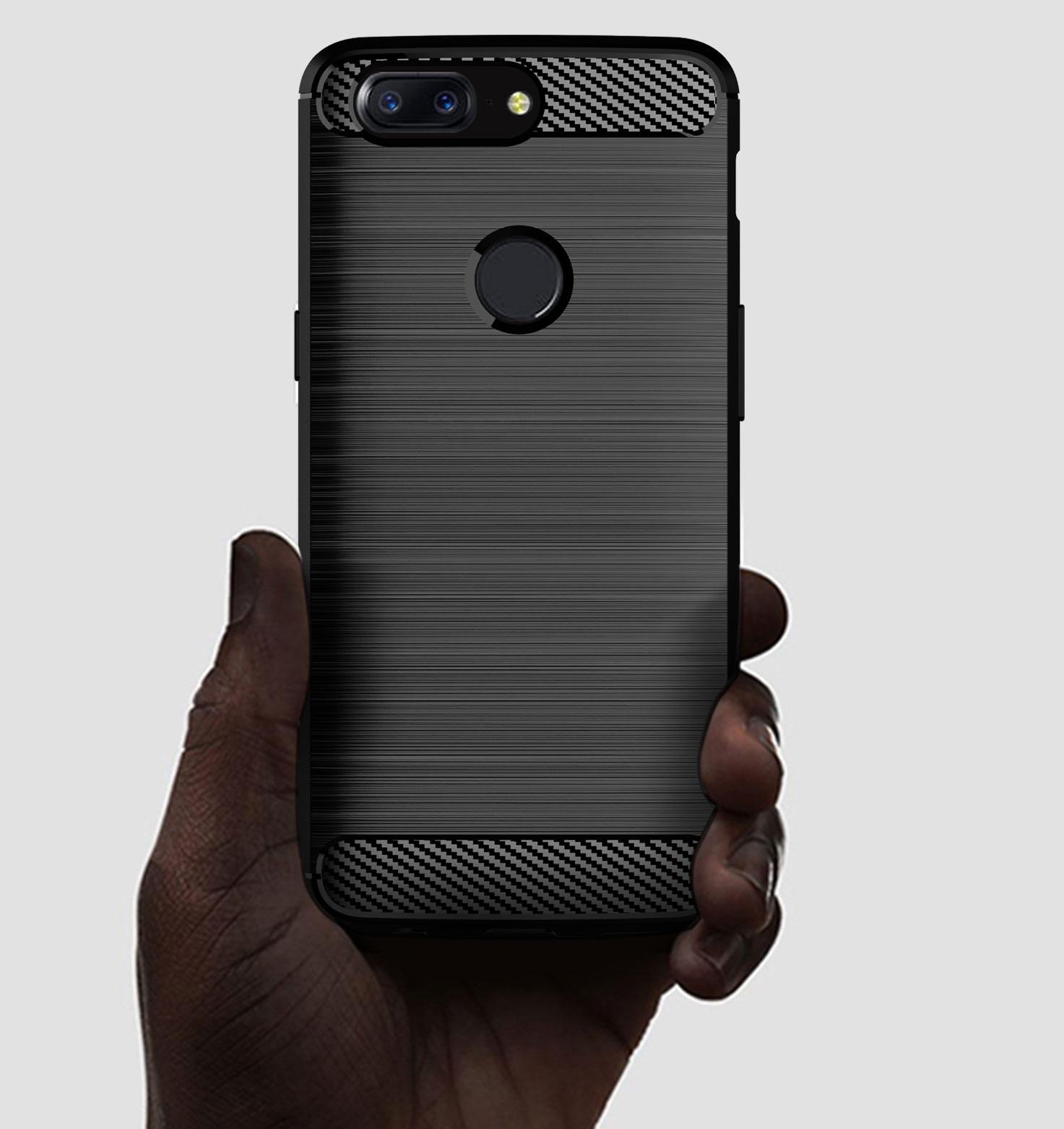 Чехол OnePlus 5T цвет Gray (серый), серия Carbon, Caseport