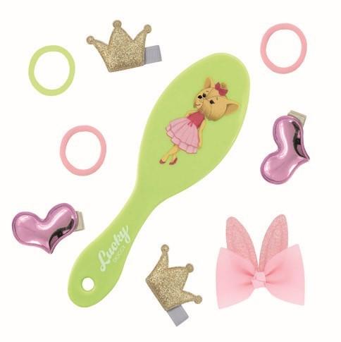 Набор аксессуаров для волос с массажной расчёской Lucky Doggy (Orange Toys) Йорк