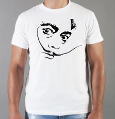Футболка с принтом  Сальвадор Дали  (Salvador Dalí) белая 0013